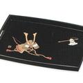 紀州漆器 長手盆 黒 かぶと 日本製