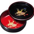 紀州漆器 木彫 盆付ボール鉢 金彩兜 日本製