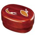 紀州漆器 小判入子弁当箱 杢目 かくれんぼ タッパー付 食器洗機・電子レンジ対応 日本製