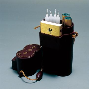 〔仏具用品〕御燈香セット 花筒 お墓参り 仏具 線香 ローソク 礼拝セット 日本製