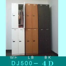送料無料 鍵付き業務用ロッカー 4人用ロッカー 木製 完成品 日本製 DJ500-4D